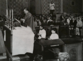 1955 Rev John C Battel giving mass St Josephs (PV)