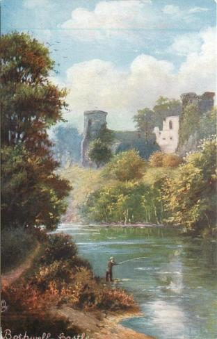 1904 Bothwell Castle painting by Raphael Tuck