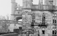 1910 Calderwood Castle front and side elevation