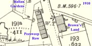 1910 Map Marked up to put into context