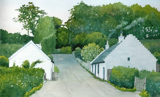 Pathfoot, Blantyre. Painting by R Thorpe for Blantyre Project books (PV)