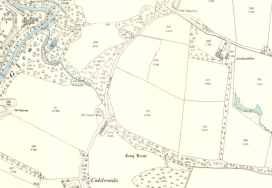 1910 Oval Pool shown on map at Parish Boundary