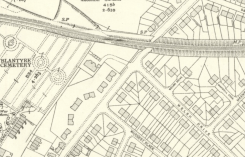 1936 Map showing what was to become Burnbrae Road