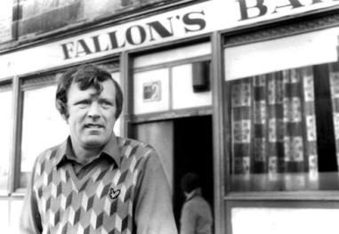 John Fallon outside his pub 1978