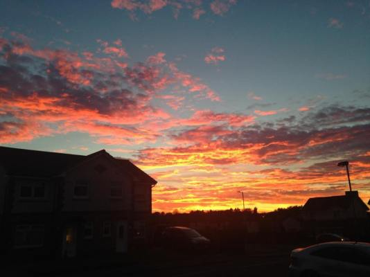 2015 Sunset on 28th September, shared by Suzanne McColligan