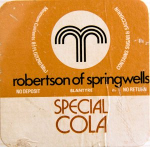 Robertsons of Springwells 70s label