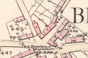 1859 Map showing Kirkton Buildings