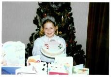 1991 Lorna Veverka, aged 8 on Christmas Day