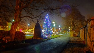 Christmas Tree at Kirkton, Blantyre by RDS 2014