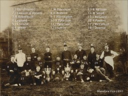 1893 Blantyre Vics all named. Shared by J Bethel.