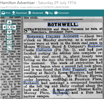 Bothwell Colliery Accident 1916