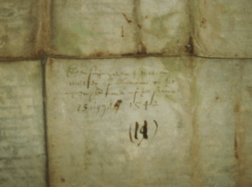 1542 Vellum Indenture document