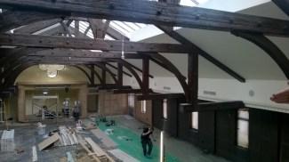 The new Ballroom at Crossbasket Castle. November 2015 (PV)