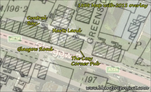 1898 Cosy Corner Pub Map