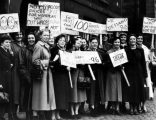 1955 Rolls Royce workers protest