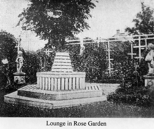 1909 Lounge in Auchentibber rose garden