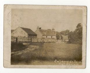 1905 Calderside Farm Postcard from Warwick Adams