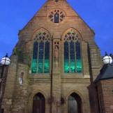 2016 St Josephs windows lit up