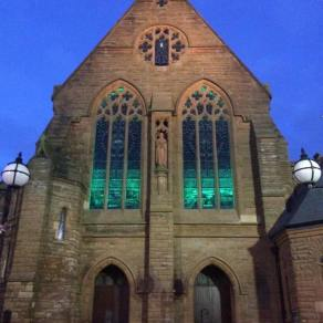 2016 St Josephs windows lit up