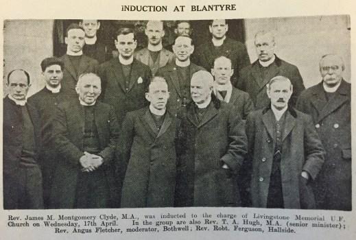 1929 Induction Rev J Clyde 17th April
