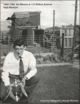 1961 Jim Nimmo at Kirkton Avenue