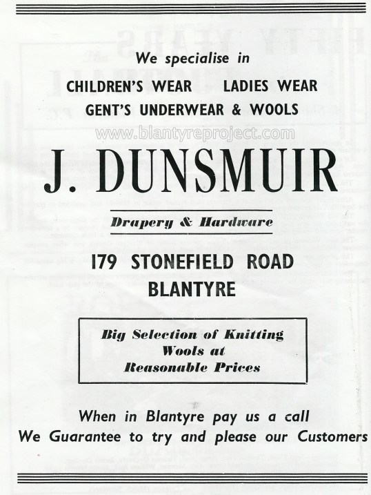 1950 J Dunsmuir advert wm