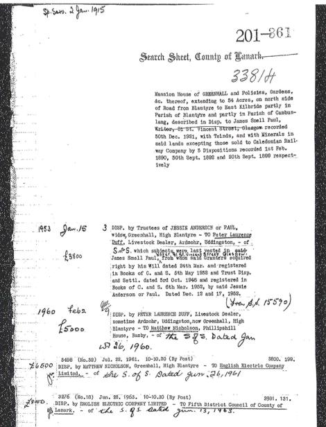 1963 Greenhall Deeds