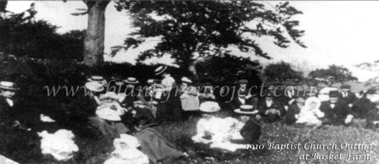 1910 Baptist Church outing to Basket