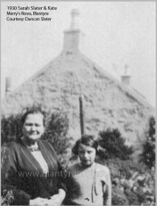 1930 Sarah Slater & Kate at Merry's Rows