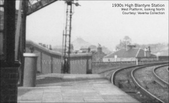 1930s West Platform High Blantyre Station