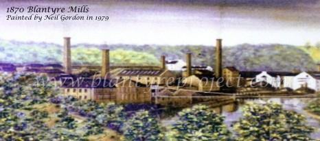 1870 Blantyre Mills Painting