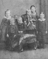 1884 Brown Family Children at Boathouse