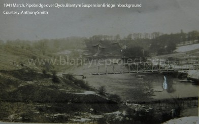1941 Pipebridge at River Clyde