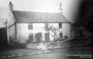 1878 Springwell Farm, bottom of Auchinraith Road