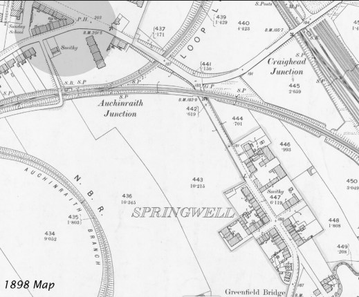 1898 Springwells map