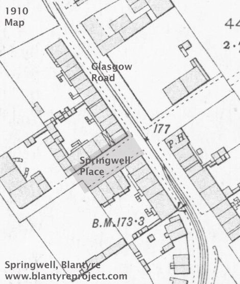 1910 Map Springwell Place