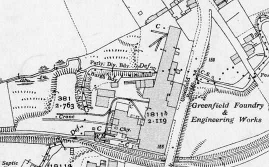 1936 Greenfield foundry map