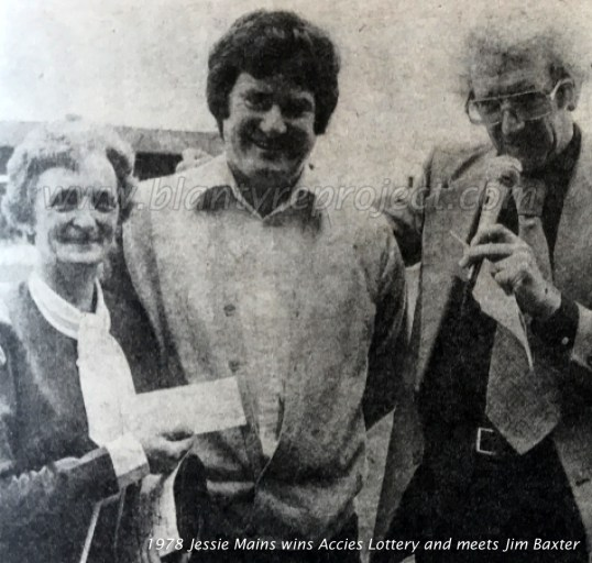 1978 Jessie Mains wins Accies Lottery wm