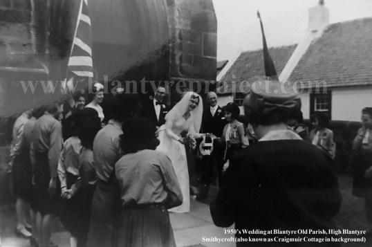 1950s Wedding at High Blantyre Church wm