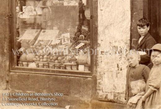 1921 Children at Benhams shop wm
