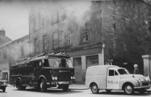 1970s early Fire at Chip Shop by AS