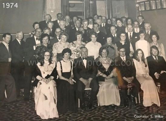 1974 Peter & Margaret Wilkie silver anniversary wm