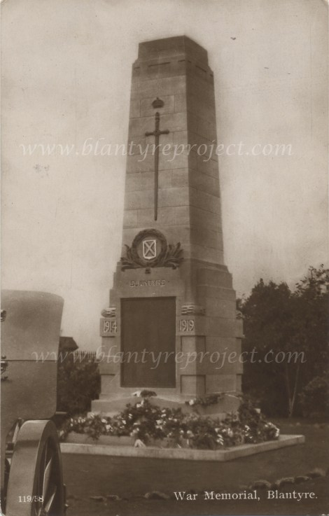 1922 Blantyre War Memorial wm