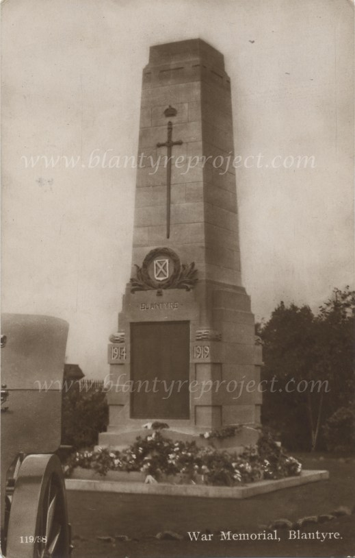 1922 Blantyre War Memorial wm