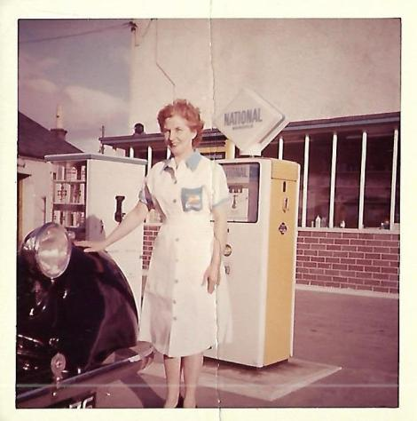 7 - Kathy Brown, National petrol station, Hasties Farm 1962