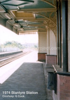 1974 Blantyre Station looking to Hamilton