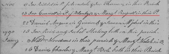 1789 14 Nov John Connell & Margaret Russell
