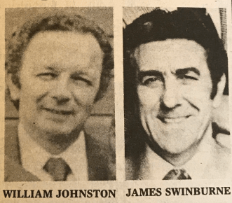 1979 Council CEO William Johnson and Clr James Swinburne