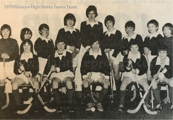 1979 Blantyre High Junior Shinty Team