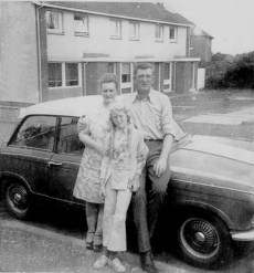 1973 Brown Family at Jedburgh Street